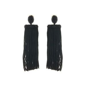 Oscar de la Renta- Silk Waterfall Tassel Earrings